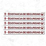 CUAC REVOLUTION Kit 5 Pegatinas Vinilo Suelo Antideslizante Distancia Seguridad (600x53mm) Regalo DE...