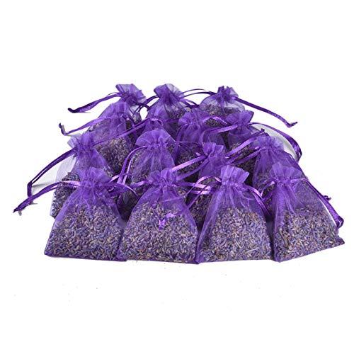 yahede Lavendel doftande väska för skåp lådor garderob luftfräschare fylld med naturligt torkade lavendelblomknoppar lila there