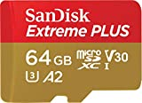 SanDisk Extreme Plus 64GB microSDXC Memory Card +  SD Adapter with A2 App Performance + Rescue Pro Deluxe, up to 170MB/s, Class 10, UHS-I, U3, V30