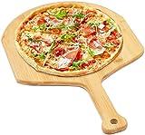 Pizza Peel Bamboo Pizza Spatula Paddle for Pizza Stone Perfect for Transferring Pizza, Bread, Cake,...