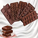 Aatpuss 5 Piezas Molde del Chocolate de Navidad, Molde de Silicona para Chocolate Navideño, Juego...