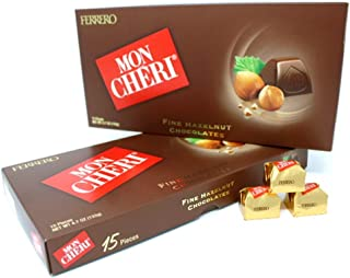 Ferrero Mon Cheri Hazelnut Chocolates 15 pieces (2 Packs)