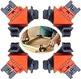 Juego de 4 marcos de fotos Carpenter de ángulo recto de 90 grados, bornes de esquina, set de edición de madera