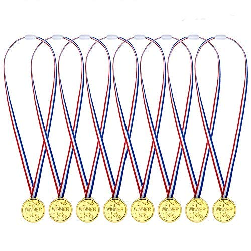 48pcs Goldmedaillen Für Kinder | Goldenes Medaille Für Kinder | Fußballspiele Sport Laufen Handball Bowling | Pinata Weihnachts | Kindergeburtstag Partyartikel | Halloween Gastgeschenke Mitgebsel