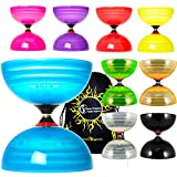 Sundia Shining Series Triple Bearing Diabolo + Travel Bag! Wide Clutch Triple Bearing Axle Spinning Diablo for Intermediate and Experts!No handsticks Included (Yellow)