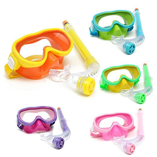 Bureze Kinderen Professionele Siliconen Duikbril Set Bril Masker Zwemmen Duiken Snorkel Ademhaling Tub