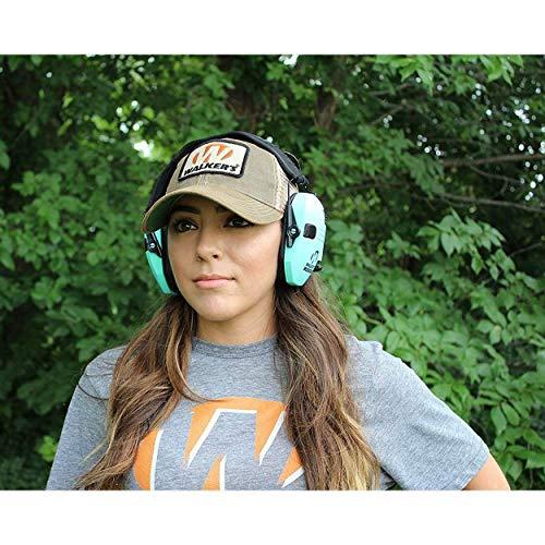 Walker's Razor Series Hearing Protection Earmuff, Teal (Certified Refurbished)