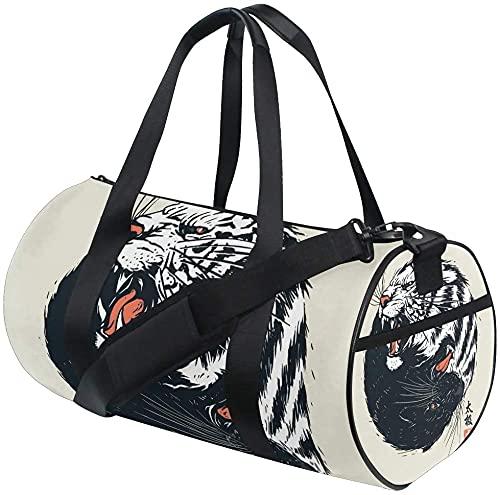 Sporttasche Alien Neon Training Reisetasche Runde Reisesporttaschen für Männer Frauen