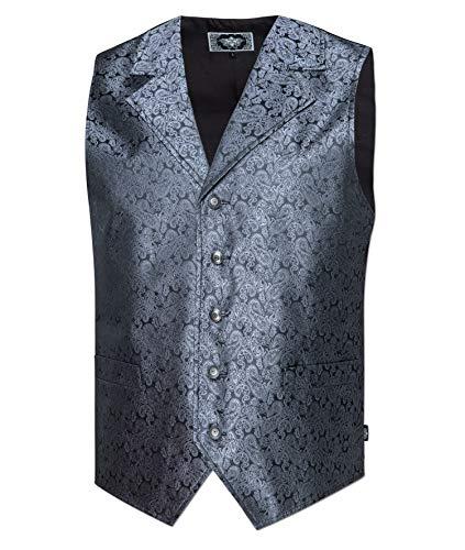 STARS & STRIPES Old Style Herren Western Weste Clay grau - Vintage Oldstyle Weste Westernkleidung grau (S)