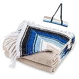 Premium Mexican Yoga Blanket, Handmade Falsa,...