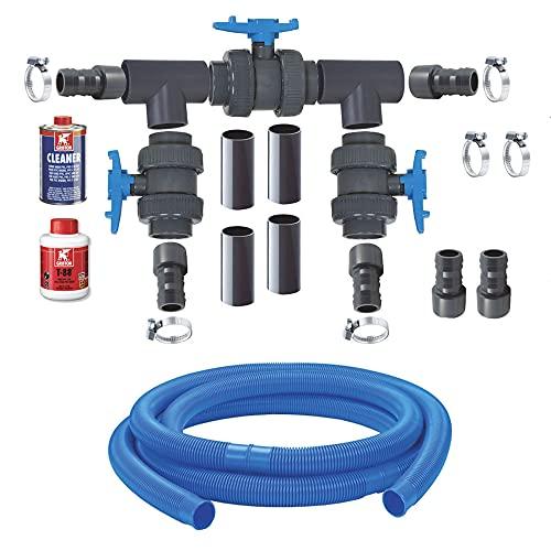 AquaForte Bypass Kit Pompe à Chaleur de Luxe Noir