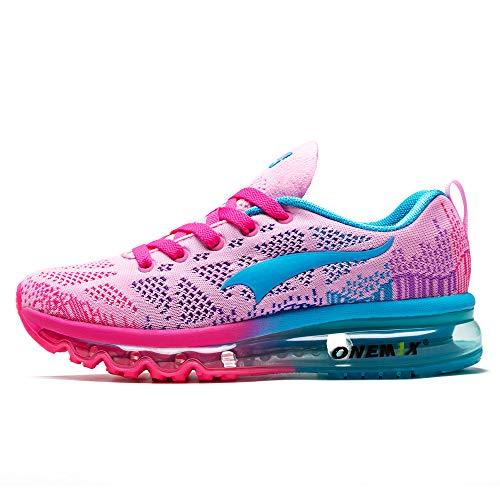 ONEMIX Air Laufschuhe Damen Sportschuhe Straßenlaufschuhe Turnschuhe Walkingschuhe Sneaker 1118 FHY 38