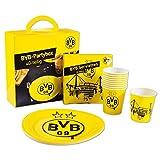 Borussia Dortmund Unisex Bvb-partybox (40-teilig) Partybox, Gelb,Einheitsgröße EU