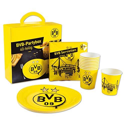 Borussia Dortmund BVB-Partybox (40-teilig) one Size