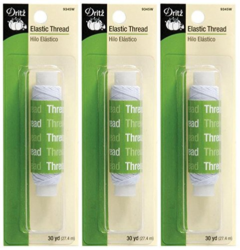 Elastic Thread 30yd-White