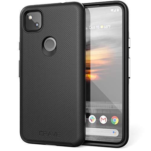 Crave Pixel 4a Hülle, Dual Guard Protection Series Schutzhülle für Google Pixel 4a, Schwarz