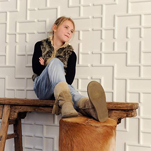 Revestimiento De Paredes 3D Tetris 3m² | 12 Paneles Decorativos 3d de 50x50cm | Paneles Decorativos Para Pared WallArt, Papel Pintado 3d | Friso Para Pared, Paneles Acusticos 3d