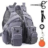 MAXIMUMCATCH Fly Fishing Vest Adjustable Size with Breathable Mesh (G-Mesh Fishing Vest with Accessories)