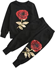 SANGTREE Mommy & Me Rose Embroidery Outfit