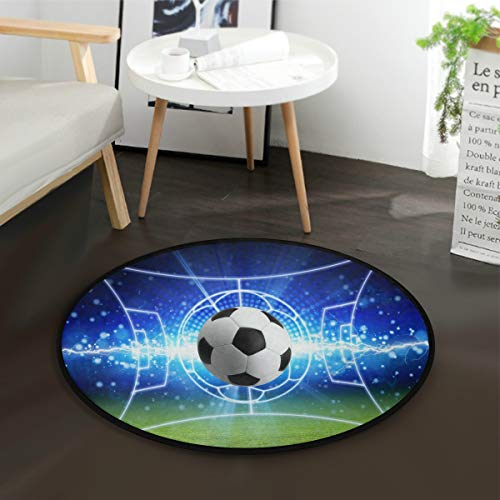 Mnsruu Fußball, abstrakt, rund, für Wohnzimmer, Schlafzimmer, 92 cm Durchmesser