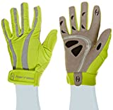 Harrow Rampart Women's Lacrosse Glove, Medium, Lime Punch/Steel