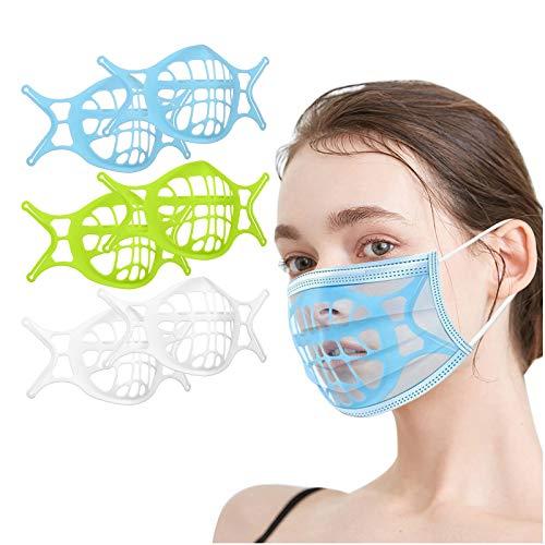 Fauean 3D Halterungen Zum Masken Abstandshalter Halterung für Mund und Nase Wiederverwendbare Maske-Bracket Silikon Maskenhalterung Maskenunterstützung Innenkissen für Mundschutz zum einfachen Atmen