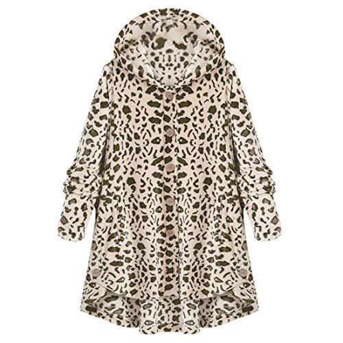 Sudadera con capucha para mujer, con botones, para el invierno, forro polar cálido, dobladillo irregular, con bolsillos, chaqueta de invierno para exterior, informal, para uso diario I-brown(a) S