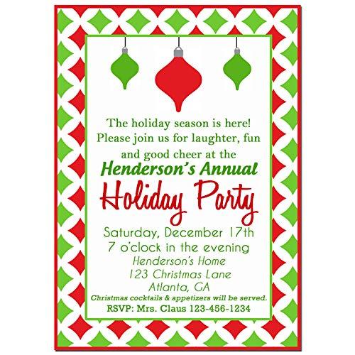 Amazon Com Christmas Party Invitation Christmas Invitation Holiday Delight Collection Handmade