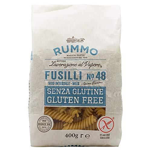 Rummo - Fusilli n.48 Gluten Free Bronze Gezeichnete - 12 Packungen mit 400 g