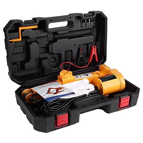 Qiilu Gato para Coche Gato eléctrico 2T con mando a distancia inalámbrico y con llave de tuerca, elevación de 12 cm a 45 cm