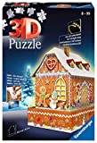 Ravensburger 11237 Puzzle 3D Ginger Bread House Night Edition, 216 Piezas, Multicolor, Edad Recomendada 8+, Dimensión Final 29x10 cm