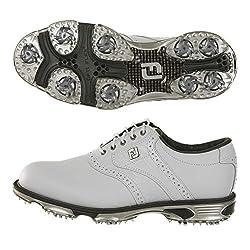 top 10 croc golf shoes DryJoys Tour FootJoy Men's Golf Shoes, White / White Crocodile, 12 M US