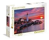 Clementoni- Puzzle 500 Piezas Faro de Portland, Multicolor (35049.0)
