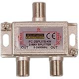 König FC-2SPLT-ST-KN - Splitter/Combinador de Cables (F, 5-2400 MHz, 2 vías), Color Plateado