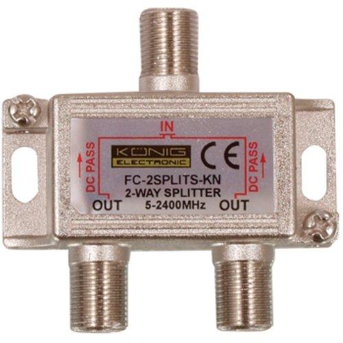 König FC-2SPLT-ST-KN - Splitter/Combinador Cables