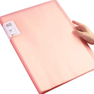 maylovely A3 13 inch x 17inch Original Art Profolio Presentation Book/Portfolio- for Art, Photography, and Documents (Pink)