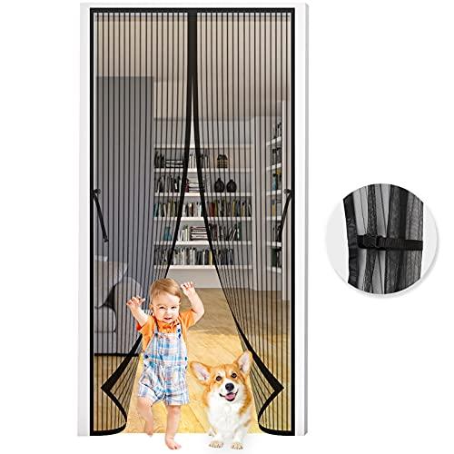 Zanzariera Magnetica per Porte , Seltochum 90x210CM zanzariera magnetica porta finestra, Resistente Traspirante zanzariera magnetica per finestra, si Chiude da Sola Anti Zanzare Insetti zanzariera