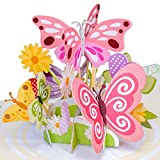 Paper Love Butterflies Pop Up Card, Handmade 3D Popup Greeting Cards for Valentines Day, Mothers Day, Wedding, Anniversary, Love, Romance, Thank You, Thinking of You, All Occasion | 5