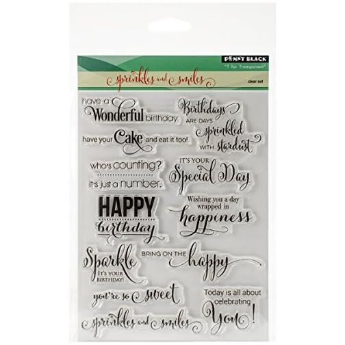 Penny Black 30-297 Sprinkles and Smiles Transparent Stamp Set |