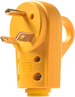 MICTUNING 125V 30Amp Heavy Duty RV Replacement Male Plug with Ergonomic Grip Handle Yellow