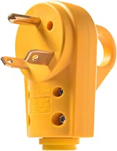 Snowy Fox RV 30 Amp Male Replacement Plug - Heavy Duty 30 Amp RV Plug Receptacle with Ergonomic Grip Handle,Designed to Accommodate Wire