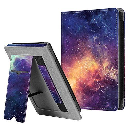 Fintie Hülle kompatibel für Tolino Shine 3 2018 / Kobo Clara HD - Kickstand Schutzhülle mit Kartenfach Handschlaufe und Auto Sleep/Wake Funktion, die Galaxie