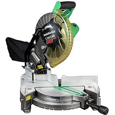 Metabo HPT 10-Inch Compound Miter Saw   Laser Marker   15-Amp Motor   Single Bevel   (C10FCH2S) from Koki Holdings America, Ltd