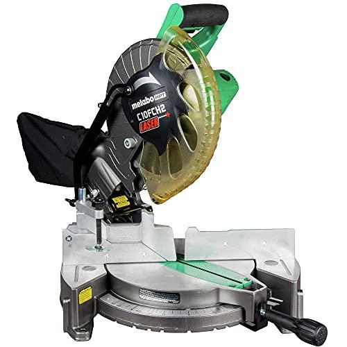Metabo HPT 10-Inch Compound Miter Saw | Laser Marker | 15-Amp Motor | Single Bevel | (C10FCH2S)