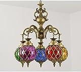 gfei Vidrio Decorativo, Color café, Decorativo, Colgante/friperie, caissière Escritorio, Hotel lámpara, 80cm * 70cm