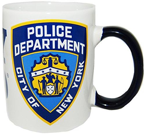 CityDreamShop New York Cops–NYPD Weiß Shield Kaffee Tasse Offiziell Lizenziert von New York Polizei