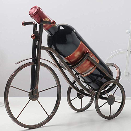 HYY-YY familia europea vino estante vino vino titular estante carácter bicicleta metal práctica escultura vino soporte decoración hogar artesanía interior para el hogar