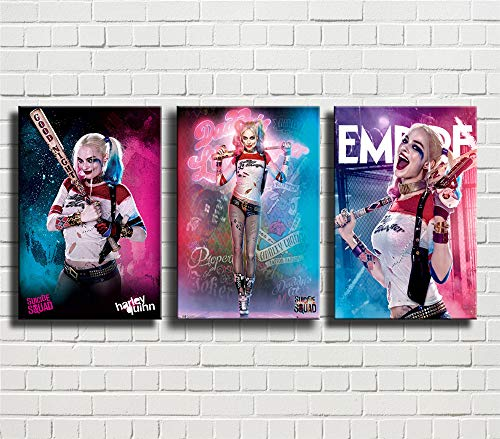 51ghE7kTNPL Harley Quinn Canvas Wall Art