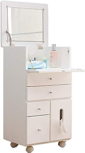 Small coffee table Multifunktions-Schrank für Frisiertisch Nachttisch, Größe Speicherkapazit  gesund und langlebig, geeignet für Schlafzimmer, Weißhoch 6cm