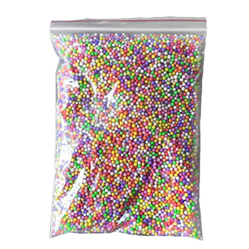Healifty 2g Slime Foam Perlen Mini Styroporkugeln für Kinder Slime Making Art DIY Handwerk (Mischfarbe)
